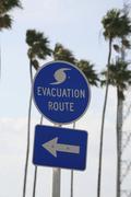 hurricane evacuation route, florida, usa - stock photo