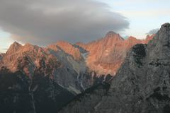 Stock Photo of alpenglow, triglav, julian alps, slovenia, europe