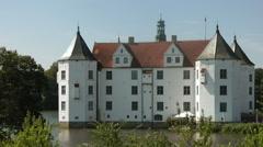 Glücksburg castle view from the south, Glücksburg, Germany Stock Footage