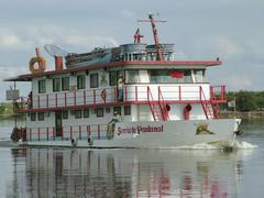 Stock Photo of typical pantanal ship, rio paraguay