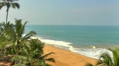 Tropical coastline, Sri Lanka Stock Footage
