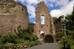 castle ruin in the old town, dreieichenhain, hesse, germany - stock photo
