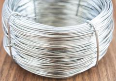 Coil of metal wire Stock Photos