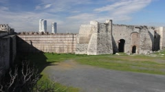 Yedikule fortress in Instanbul Stock Footage