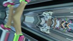Running on tread wierd Stock Footage
