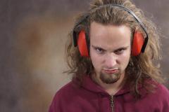 Man with ear protection Stock Photos