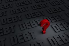 debt question - stock illustration