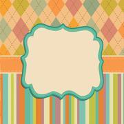 Invitation Card Background, Border Frame Patterns Stock Illustration