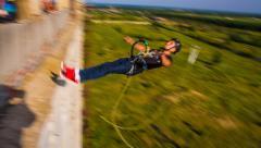 Horizontal jump headfirst Stock Footage