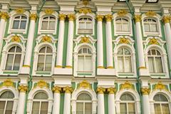 Baroque fassade saint peterburg russia Stock Photos