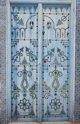 Stock Photo of entry door in sidi bou said, tunisia
