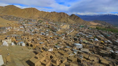 Lekh  panoram  old quarters Stock Footage