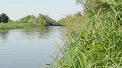Typical river landscape in the Havelland (Brandenburg, Germany). Stock Footage