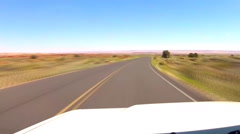Fast Motion Driving High Desert Plain- North Central Arizona Stock Footage