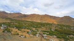 Lekh  panoram under the clouds Stock Footage
