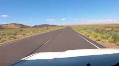 POV Driving Highway In Wupatki National Monument- Flagstaff AZ Stock Footage
