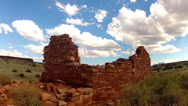 Stock Video Footage of Sinagua Indian Pueblo Ruins With Clouds Time Lapse 10sec