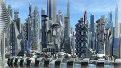 Science fiction city Stock Illustration