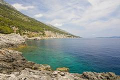 Bath bay milna, island hvar, dalmatia, croatia Stock Photos