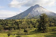 active volcano arenal near fortuna, costa rica - stock photo
