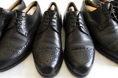 """Traditional gentlemen´s footwear, so-called """"budapester"""" Stock Photos"""