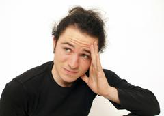 Sceptical man Stock Photos
