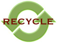 Recycle with arrows Stock Illustration