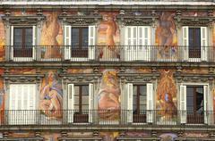 Stock Photo of mural painting, casa de la panadería, plaza mayor, madrid, spain