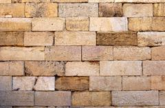 Stock Photo of brickwork, ruins of the roman city leptis magna, libya