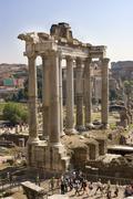 Temple of saturn forum romanum rome italy europe Kuvituskuvat