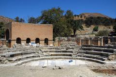 amphitheatre, knossos, crete, greece - stock photo