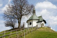 warrior rememberance chapel bayersoien upper bavaria germany - stock photo