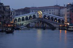 Canale grande and rialto bridge, venice, italy Stock Photos
