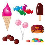 Sweet Food Stock Illustration