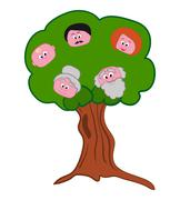 Family Tree Symbol Stock Illustration