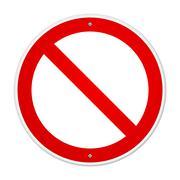 Blank Forbidden Sign - stock illustration
