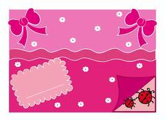Greeting Card Illustration Stock Illustration