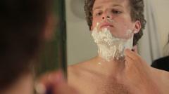 Wet shaving Stock Footage
