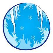 Winter Season Window Stock Illustration