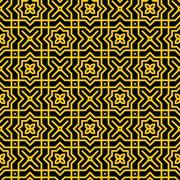 Gold Persian Pattern - stock illustration