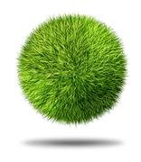 environmental conservation grass ball - stock illustration