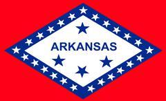 flag of arkansas - stock illustration