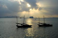 Harbour, halong city, vietnam Stock Photos
