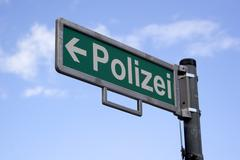 Destination board - police (polizei) Kuvituskuvat