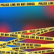 Police Line w Red Blue Lights Stock Illustration