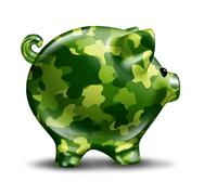 Financial defence protection Stock Illustration