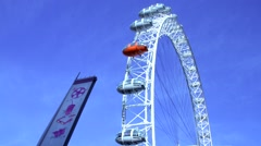 Timelapse London Eye Daytime County Hall 1080 HD Stock Footage
