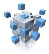 teamwork business cooperation symbol - stock illustration