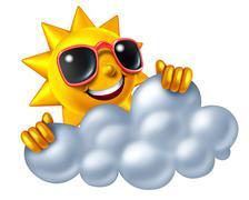 sun and cloud - stock illustration