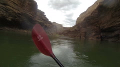 Grand Canyon Kayaking Time Lapse Stock Footage